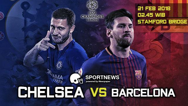 Chelsea vs Barcelona 21 Februari 2018