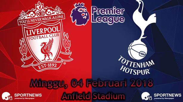 Liverpool vs Tottenham Hotspur 4 Februari 2018