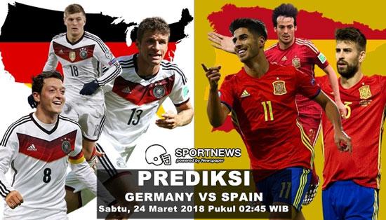 Prediksi Skor Jerman vs Spanyol 24 Maret Friendlies Match