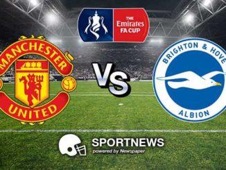 Manchester United vs Brighton Hove Albion 18 Maret