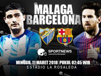 Malaga vs Barcelona 11 Maret 2018