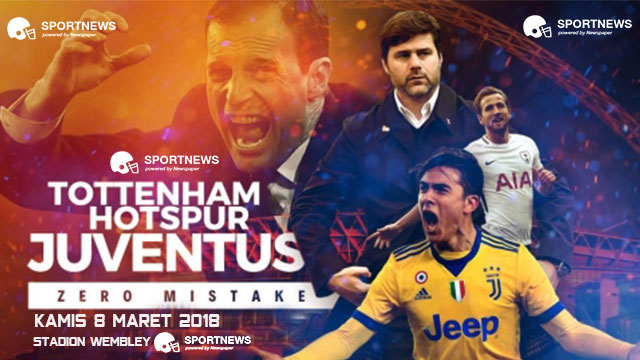 Tottenham Hotspur vs Juventus 8 Maret 2018