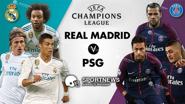 Paris Saint Germain vs Real Madrid 7 Maret 2018