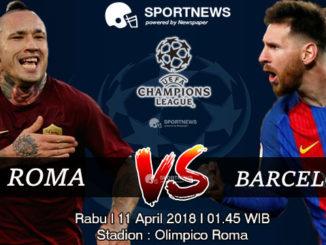 roma vs barcelona 11 april - agen bola terpercaya