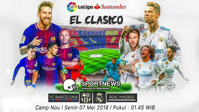 barcelona vs real madrid 7 mei - agen bola terpercaya