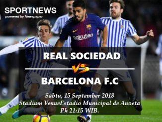 Prediksi Skor Real Sociedad Vs Barcelona 15 September 2018 - Prediksi Bola Palugadabet